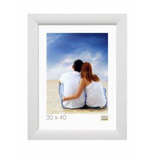 Breiter Rahmen im weißen Maler-Design 15 x 20 cm