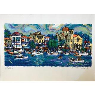 """Michael Leu - """"Spring in Aegina"""" Acryl auf Papier 113/196"""